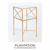 Castile Side Table | Gold