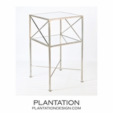 Castile Side Table | Silver