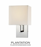 Kalan Single Sconce | Polished Chrome