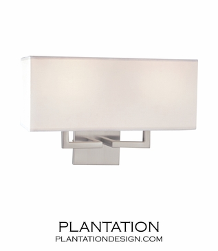 Kalan Double Sconce | Brushed Nickel
