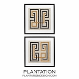 Pathways Geometric Prints | Set of 2