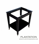 Falcon Side Table, Glass Top