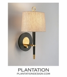 Loophole Sconce | Ebony & Brass