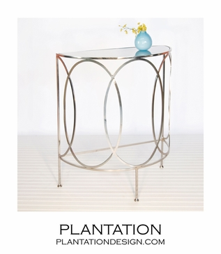 Anthony Console Table | Nickel
