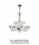 Murano Style Chandelier | Clear