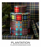 Plaid Porcelain Tea Jar