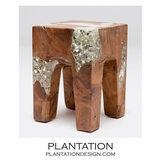 Molar Resin & Wood Stool | Brown