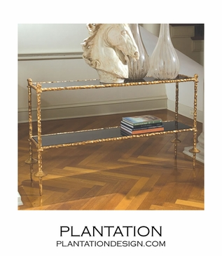 Gold-Carved Console Table