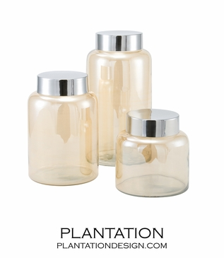 Hampton Glass Jars Set