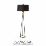 Hailey Iron Floor Lamp | Black Shade