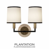 Carlton Double Sconce | Antique Brass