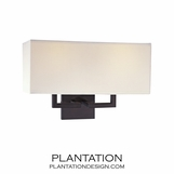 Kalan Double Sconce | Bronze