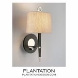 Loophole Sconce | Ebony & Nickel