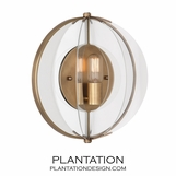Saturn Flush Sconce | Aged Brass