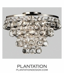 Flair Flush Mount | Polished Nickel