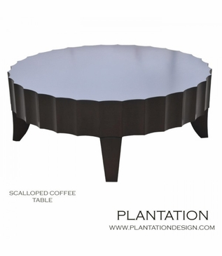 Scalloped Coffee Table | Round