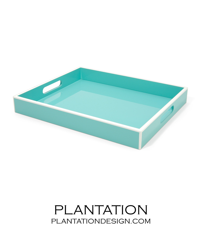 Completely new Lacquer Tray | Turquoise | PLANTATION ZJ17