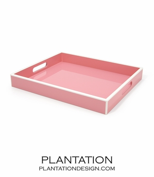 Lacquer Tray | Pink
