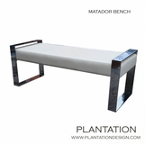 Matador Bench | Polished Nickel