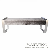 Matador Bench | Satin Nickel