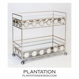 Cirque Bar Cart | Warm Silver
