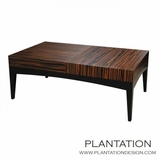 Bryce Coffee Table, Macassar