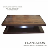 Cantilever Coffee Table | Macassar Rectangle No. 1