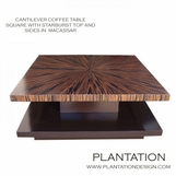 Cantilever Coffee Table   Macassar Square