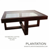 Gio Geometric Coffee Table, Stained