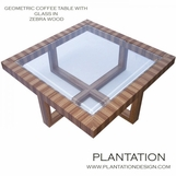 Geometric Coffee Table | Zebrawood