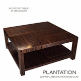 M Square Coffee Table,  Macassar