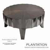 Seville Scalloped Round Coffee Table, Macassar