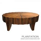 Scalloped Coffee Table   Oval