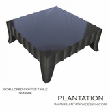 Seville Scalloped Square Coffee Table
