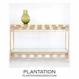 Bradley Console Table | Gold