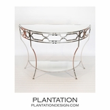 Helen Console Table | Nickel