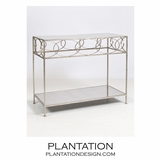 Sean Console Table | Warm Silver
