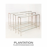 Skinny Console Tables | Nickel