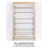 Lucille 8-Shelf Tower | Gold