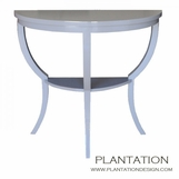 Demilune Console Table, Painted