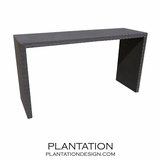 Wade Waterfall Console Table, Upholstered