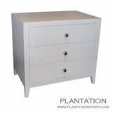 Cohen 3-Drawer Side Table, Painted