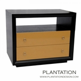 Mercer Side Table | Ebony 2-Drawer