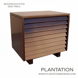 Modern Shutter Side Table