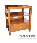 Cohen 1-Drawer Side Table, Stained