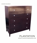 Cohen Highboy Dresser, Stained