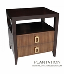 Cohen Side Table | Zebra 2-Drawer