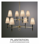 Loophole Chandelier | Ebony & Brass