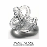 Tangled Glass Knot | Clear