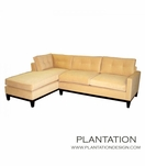 Soho Tufted Sofa Sectional w/Chaise